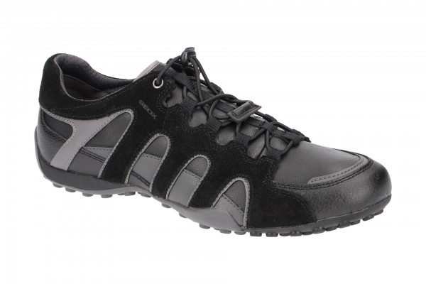 Geox Snake Schuhe schwarz grau U8407A