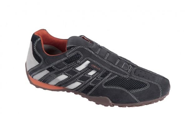 Geox Snake N Schuhe dunkelgrau Slipper U1107N