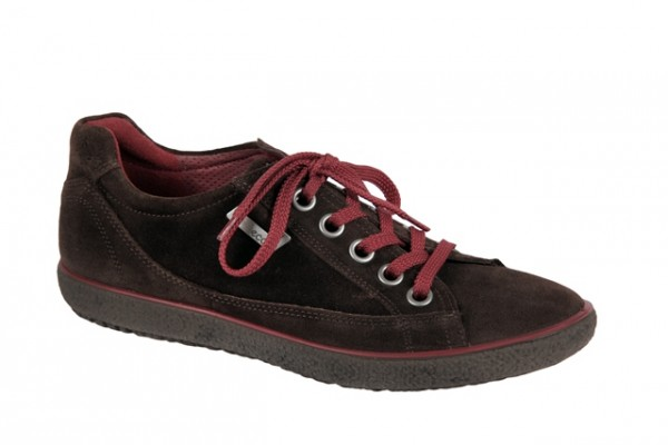 Ecco Stripe Schuhe in coffee braun