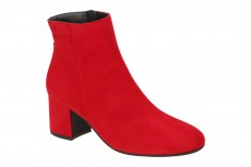 Paul Green Stiefelette rot Samt 8997 8997-127