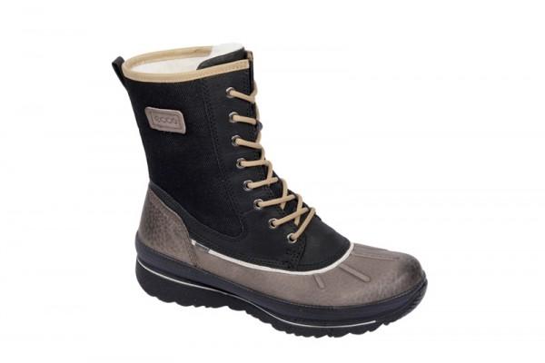 Ecco Hill Stiefel in braun schwarz Gore-Tex Warmfutter