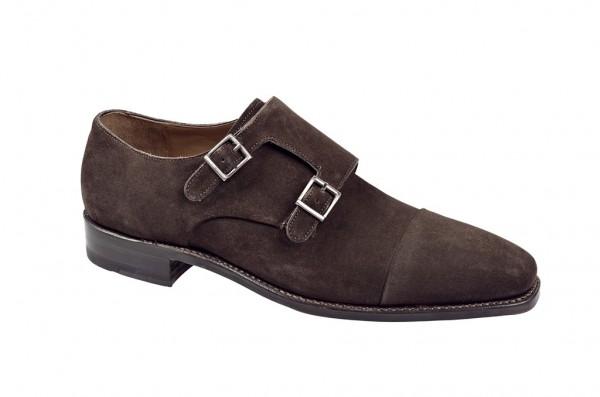 Gordon & Bros Schuhe braun rahmengenähte Velour 4376