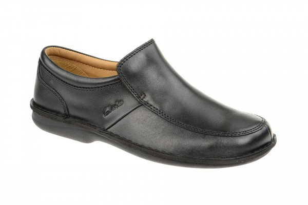 Clarks Sentry Slip Schuhe schwarz H-Weite 20323604 8