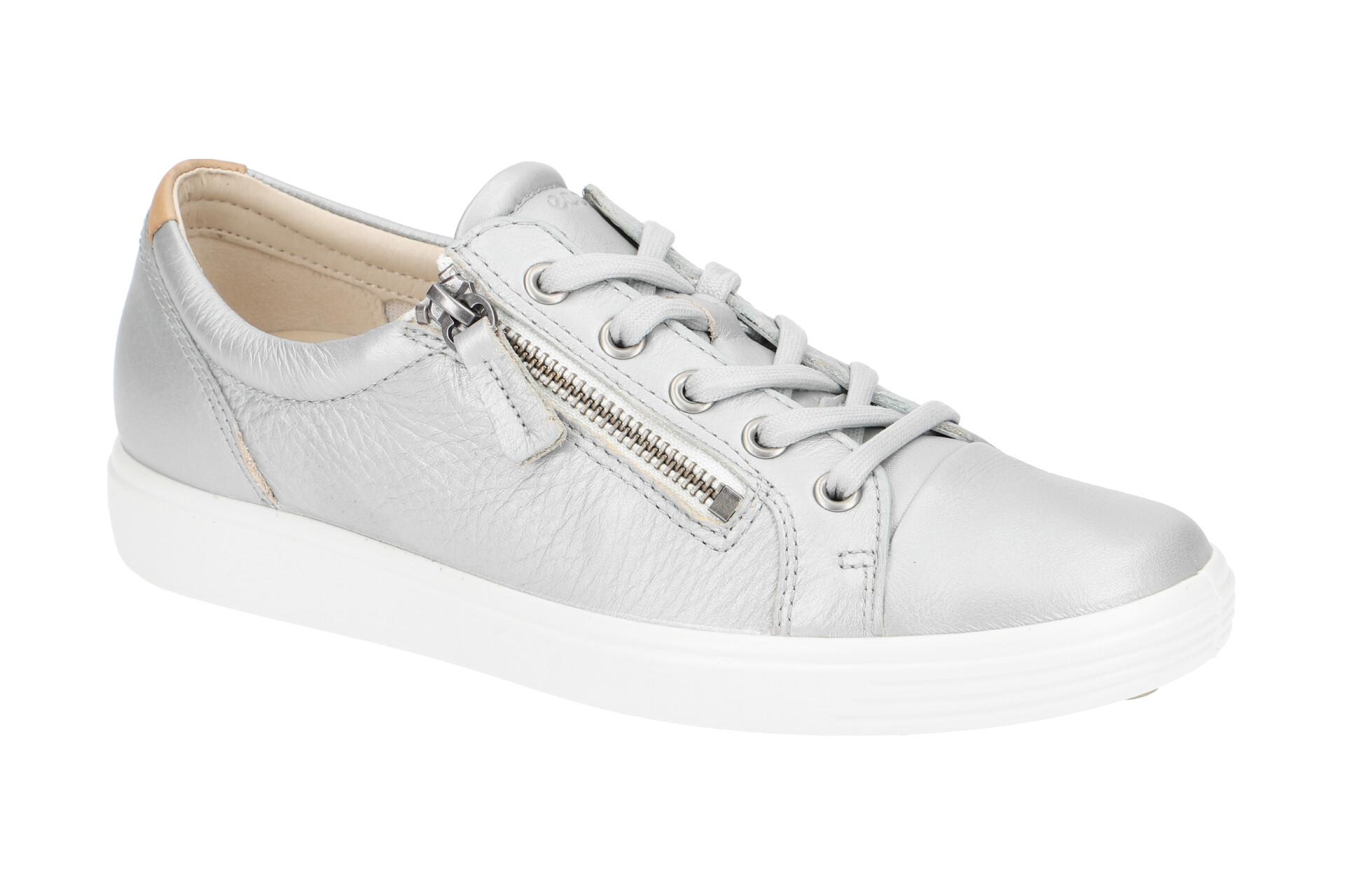 Ecco Soft 7 Damen Schuhe grau metallic