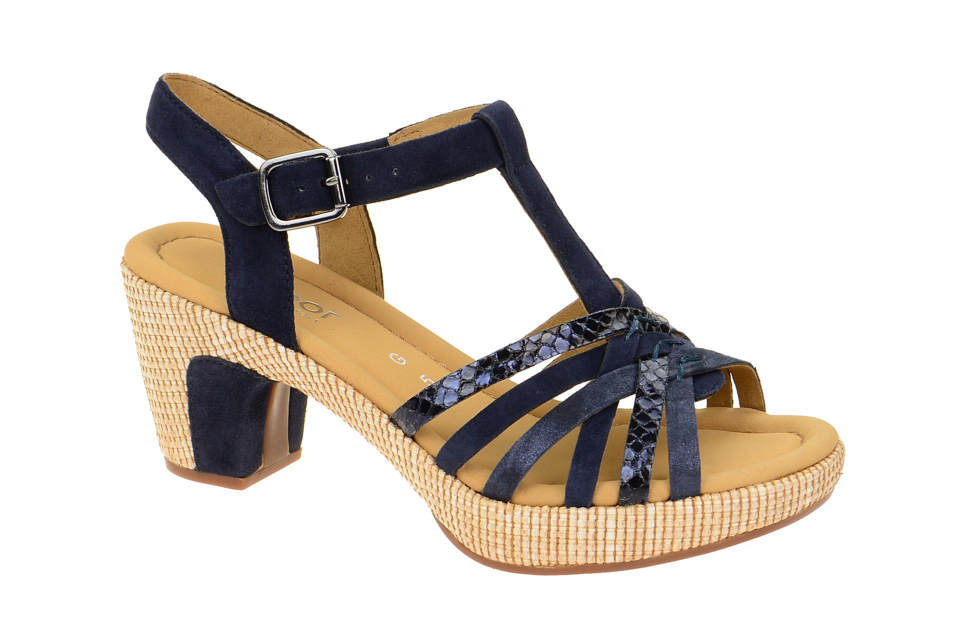 Damen Gabor Komfort Sandalen blau 39