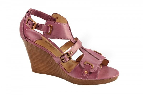 Geox Riccione Keil Sandale lila violett D01T5L