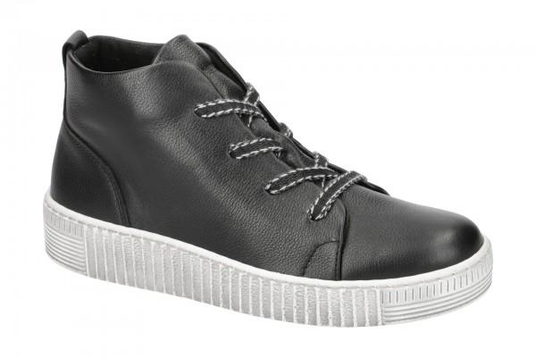 Gabor Schnür Schuhe schwarz weiß 33.736.27