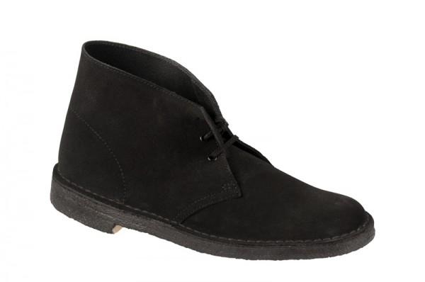 Clarks Desert Boot Schuhe schwarz velour 00111763