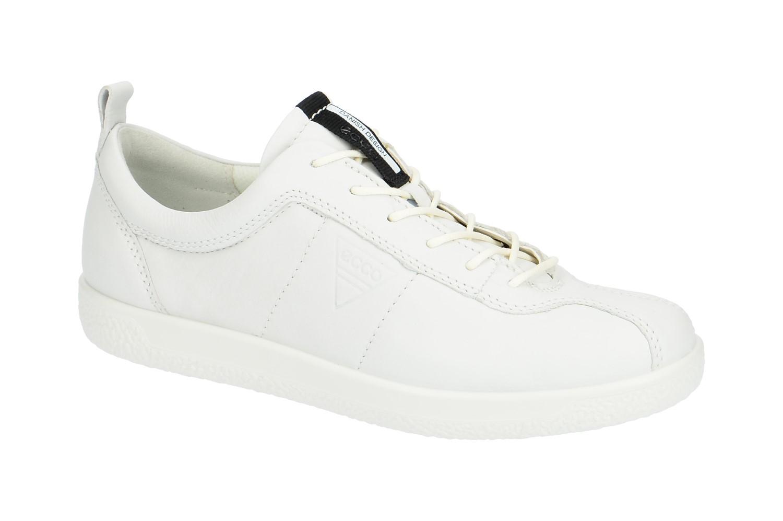Ecco Soft 1 Schuhe weiß Retro Sneakers