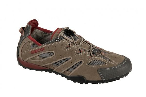 Geox Snake Y Schuhe in beige dk rot U0107Y