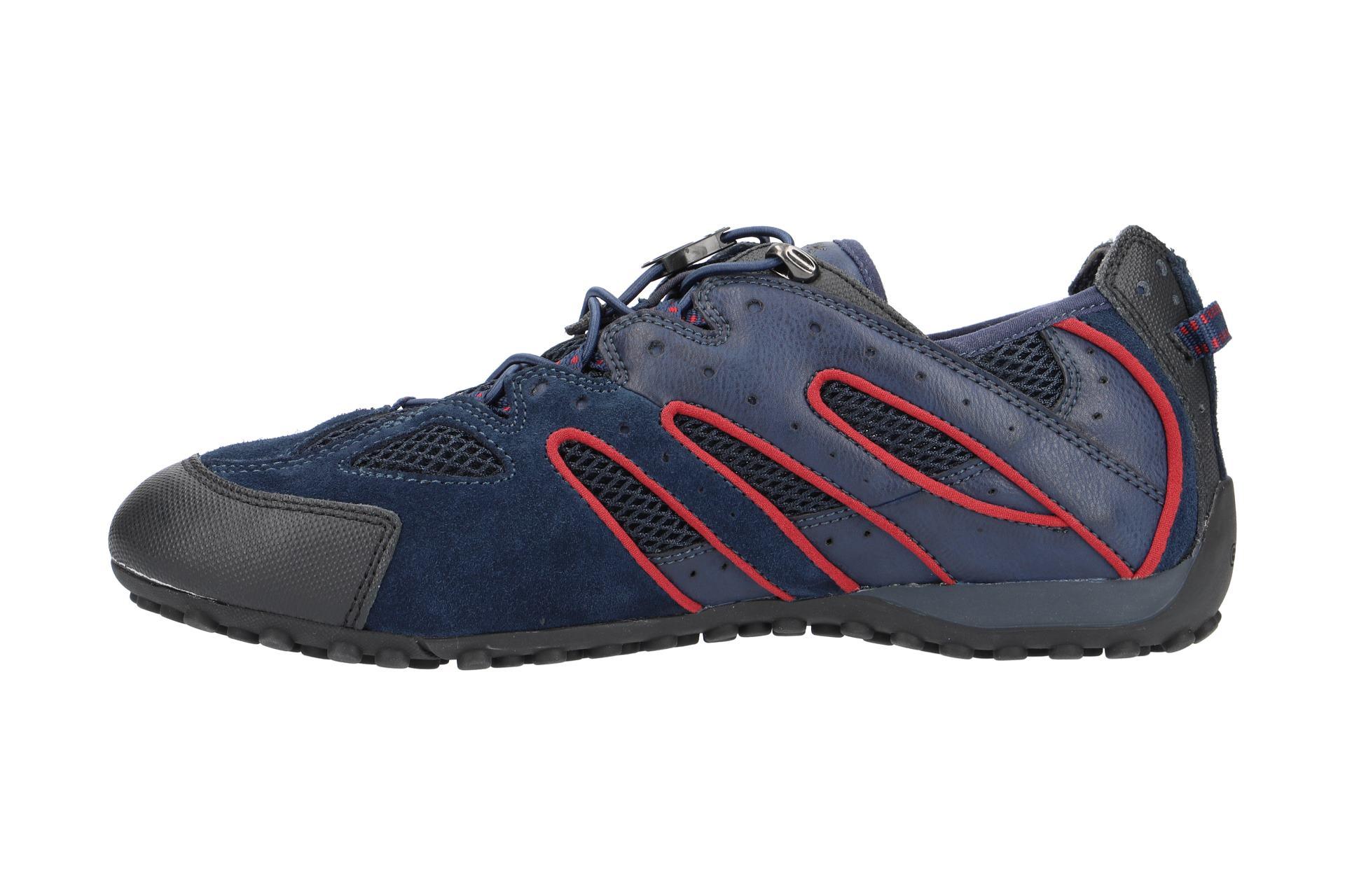 Geox Schuhe SNAKE blau Herrenschuhe Sneakers U4207J 02214 TEfJM